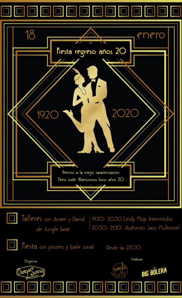cartel fiesta celebración años 20