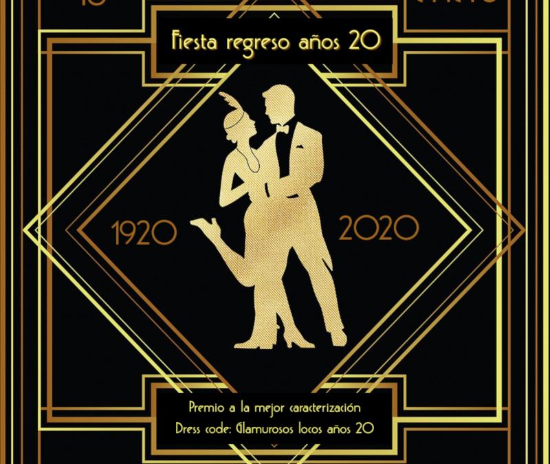 cartel fiesta años 20